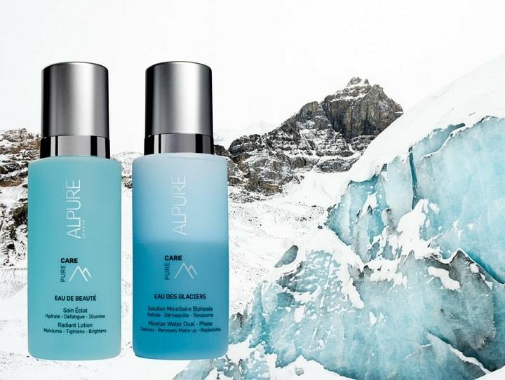Les vertus beauté de l'eau des glaciers